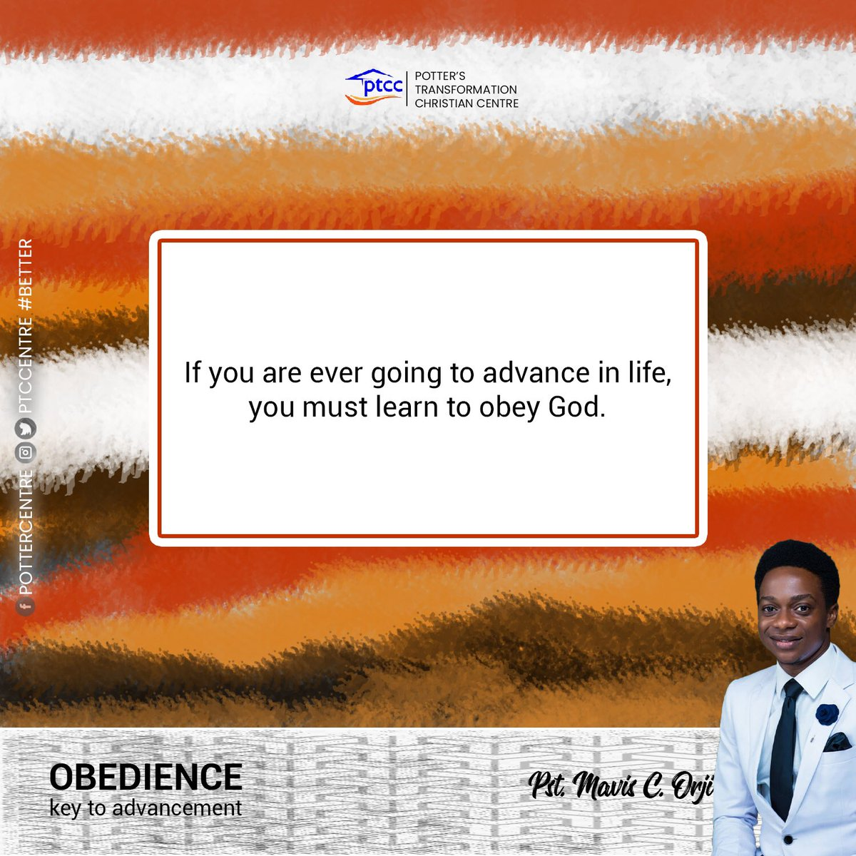 Learn to obey God #ptcc #pottersofinstagram #transformationtuesday #TransformationNow #WeAreTransformed #Better #itcanonlygetbetter #february #obedience #Midweekservice.