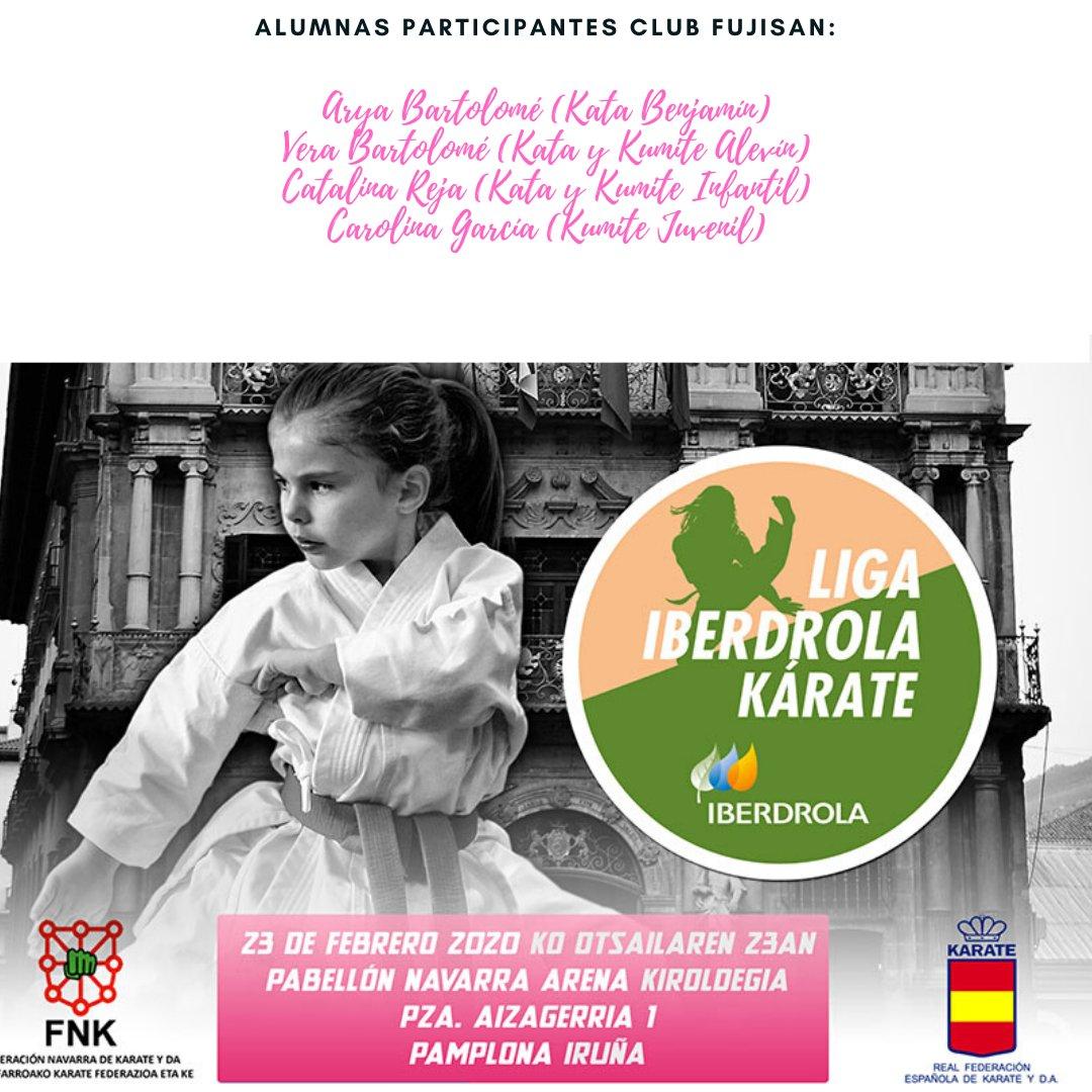 Cuatro alumnas del @FujisanPalencia acudirán el domingo 23 de febrero a Pamplona a participar en la 1ª Fase de la Liga Nacional Infantil.  MUCHA SUERTE PEQUES JUNTOS SOMOS IMPARABLES pic.twitter.com/oTuPrK8no1
