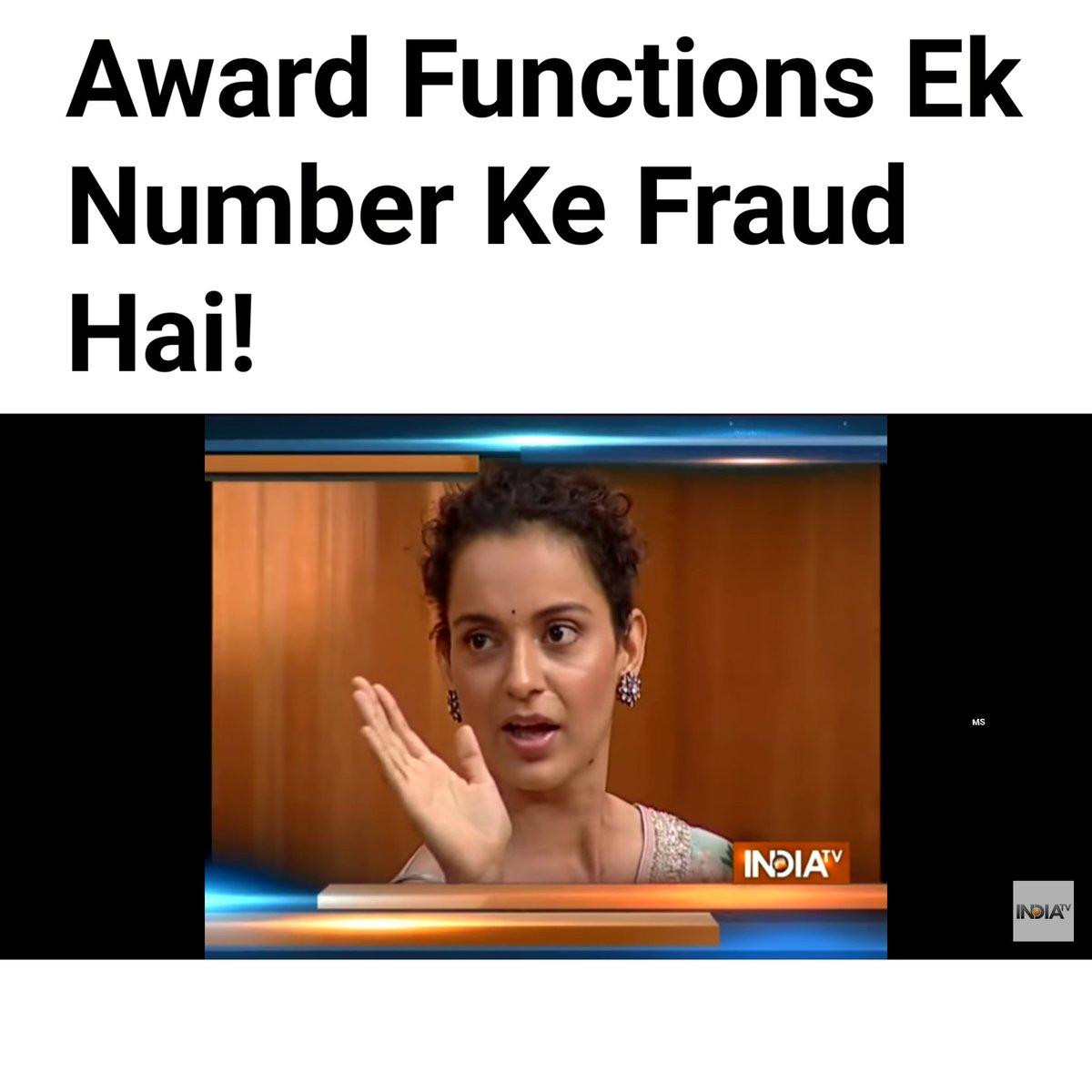 Filmfare Summary in one line! #BoycottFilmFare  #BoycottFilmfareAwards #FilmfareAwards2020  #FilmfareAward2020  #AmazonFilmfareAwards  #Filmfare  #Bollywood  #KangnaRanaut <br>http://pic.twitter.com/RMfyDBC7Bj