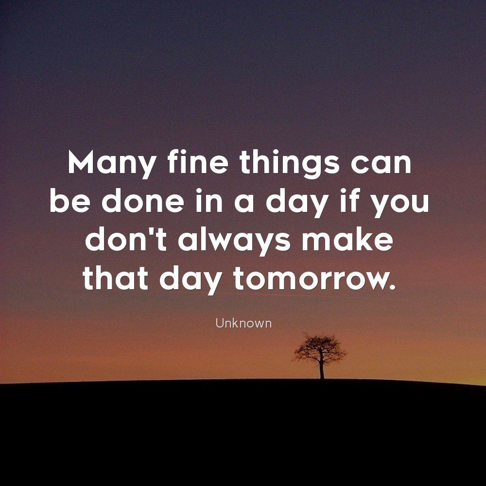 Do not delay any projects today, Do it so you have new things to do tomorrow.  #quoteoftheday #dailyquotes #everydayquotes #lifequotespic.twitter.com/s5DTgEDZBQ