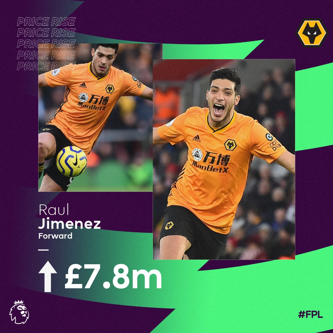 Wolves next 5️⃣ matches: Norwich (h) Spurs (a) Brighton (h) West Ham (a) AFC Bournemouth (h) Time for Jimenez? 👀 #FPL