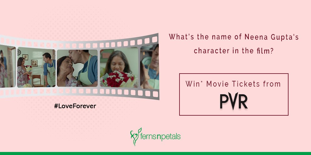 #ContestAlert Watch our latest brand film with Neena Gupta & Rajat Kapoor introducing our latest product - Flower Will❤️ Answer a simple question & win PVR tickets. Know more about the contest & watch the film, visit this link- http://bit.ly/38HP7Lx  #LoveForever #FernsNPetals