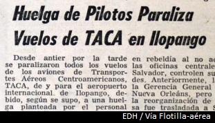 19.Feb.1972 Se paralizan todos los vuelos de TACA desde y hacia Ilopango, debido a una huelga de pilotos y sobrecargos. pic.twitter.com/veJCj0Srmf