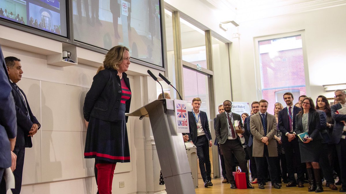 Addressing our fantastic @DFID_UK  staff yesterday, I set out my plan to ensure #UKaid  is aligned to Britain's national interest  We will promote girls' education, tackle climate change, work to end preventable deaths and help countries receiving aid become self-sufficient 🇬🇧