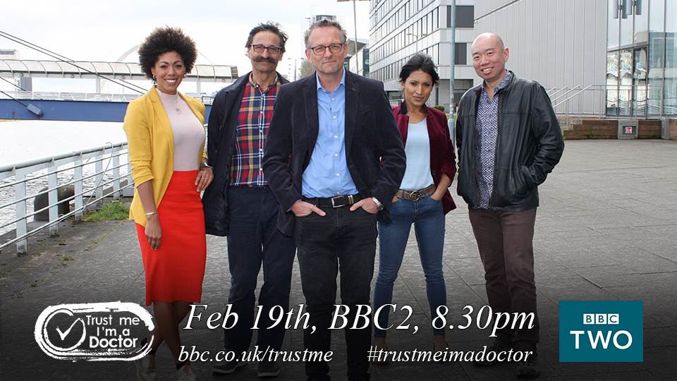 .@BBCTrustMe is back tonight with @DrMichaelMosley 8.30pm on @BBCTwo #trustmeimadoctor