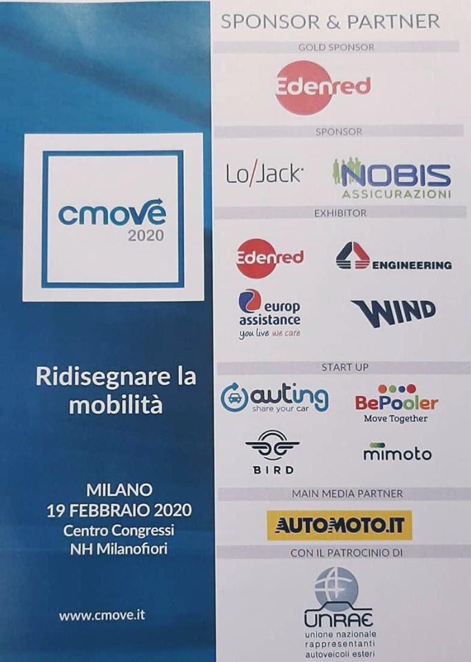 Grazie a @Edenred_Italia @LoJackItalia Nobis Assicurazioni @EngineeringSpa @EA_Italia sponsor di #cmove https://t.co/3gqNRIqJit
