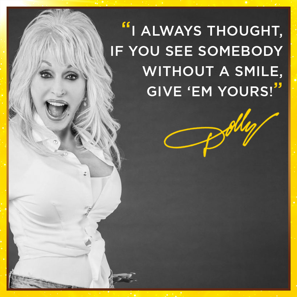 All the #WednesdayWisdom you'll ever need!  Be. More. Dolly! pic.twitter.com/i6JLSQwrmr