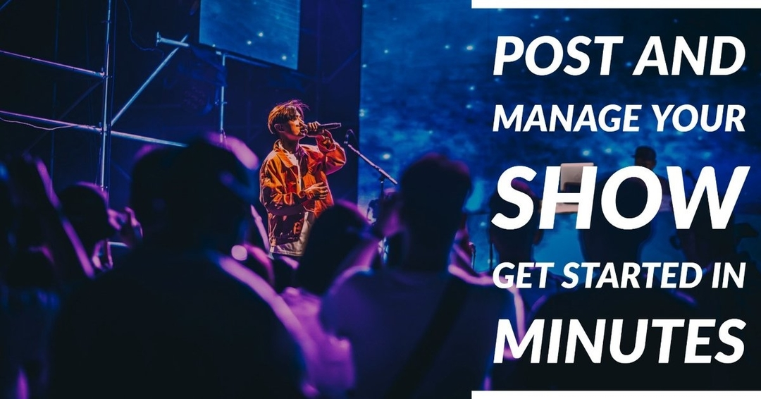 Post and manage your show, get started in minutes.   http://bit.ly/2pUXuNz #show #concert #musicfestival #event pic.twitter.com/mMyxpBJcl0