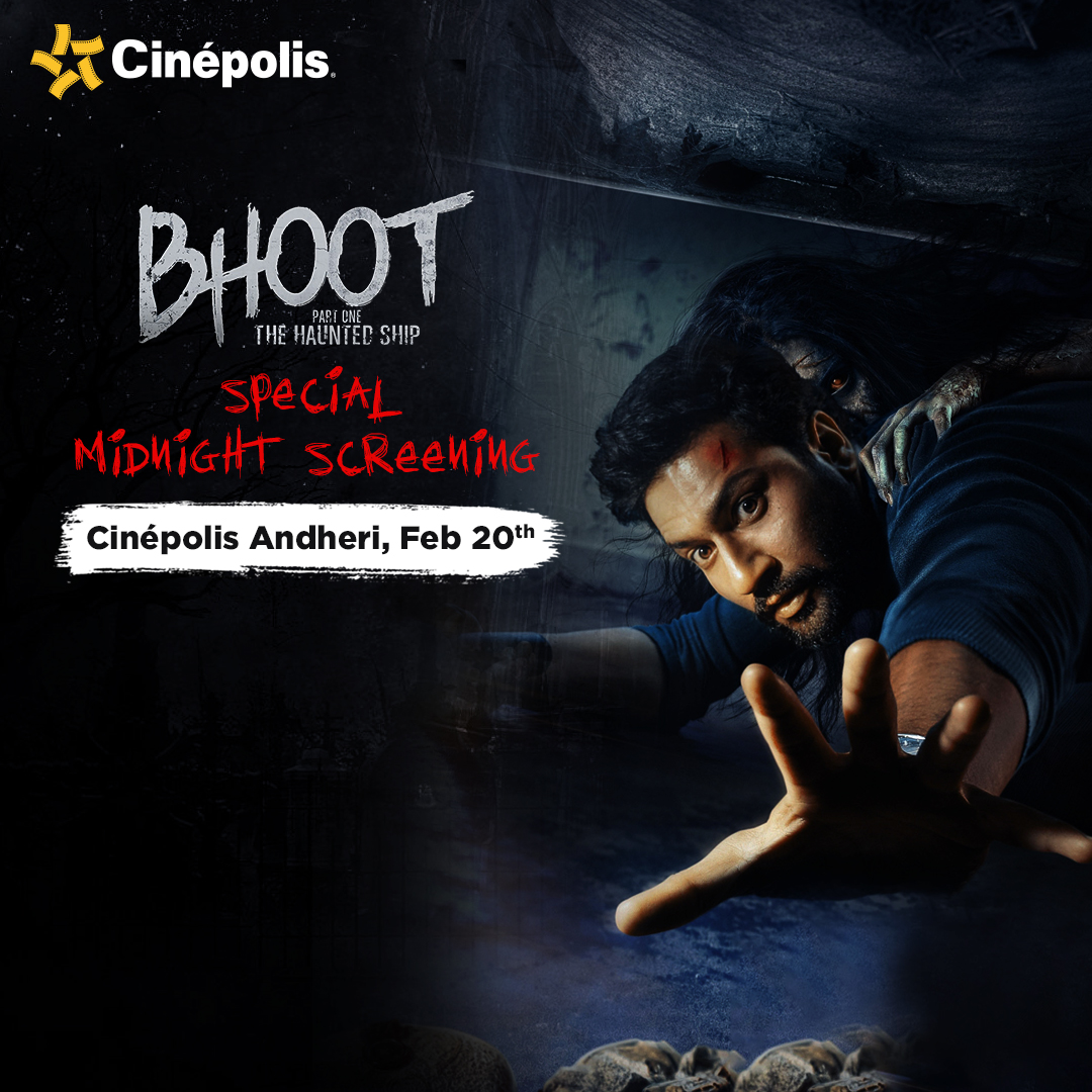 Tag your friends you'd like to get spooked with and join us for this special midnight screening of #Bhoot at #CinepolisAndheri on Feb 20th.  #Cinepolis #CinepolisIndia @DharmaMovies @ZeeStudios_  @vickykaushal09