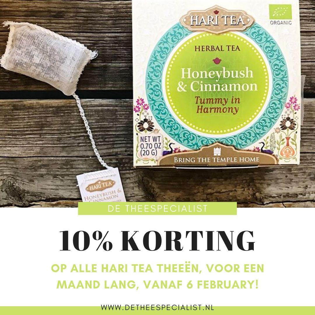 Vertroetel je buik met deze gezonde en zoetige thee van honeybush en kaneel.  10% #korting op de hele #HariTea collectie tussen 6 feb en 6 mrt.   http://www.detheespecialist.nl  #cafeinevrij #chai #aanbieding #actie #DeTheespecialist #teatime #enjoythelittlethings pic.twitter.com/7HdPZF5LCm