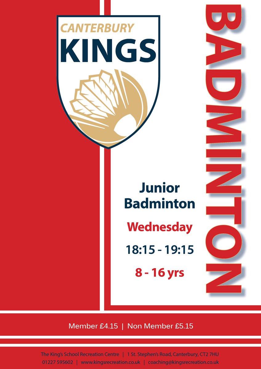 Canterbury Kings Junior Badminton @BadmintonEnglnd @PlayBadminton @BE_South #BadmintonLovers #badminton #WednesdayMotivation #junior #sport #fitness #health #kingsrecpic.twitter.com/eNH8Ff2KO3