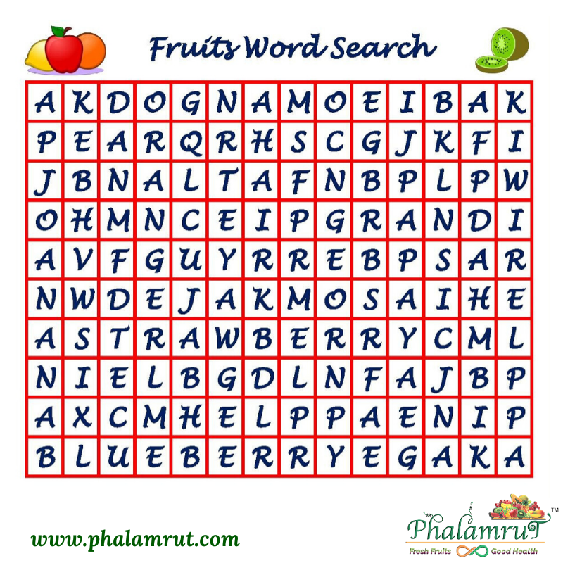 How much do you know about your favorite fruits? Take this word puzzle and spot the fruits. Share your answers in the comment section and stand a chance to win. How many fruits can you spot? #phalamrut #fruits #puzzle #india #game #wordpuzzle #ContestAlert #Contest #healthy