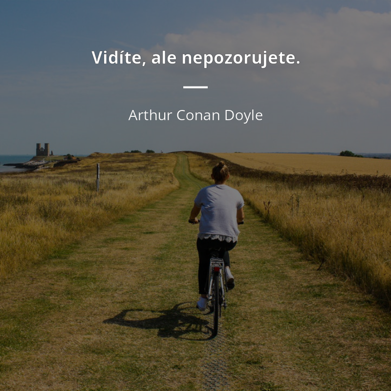 Vidíte, ale nepozorujete. https://citaty.net/autori/arthur-conan-doyle/… #citáty #doylepic.twitter.com/4lo7a6r2PB