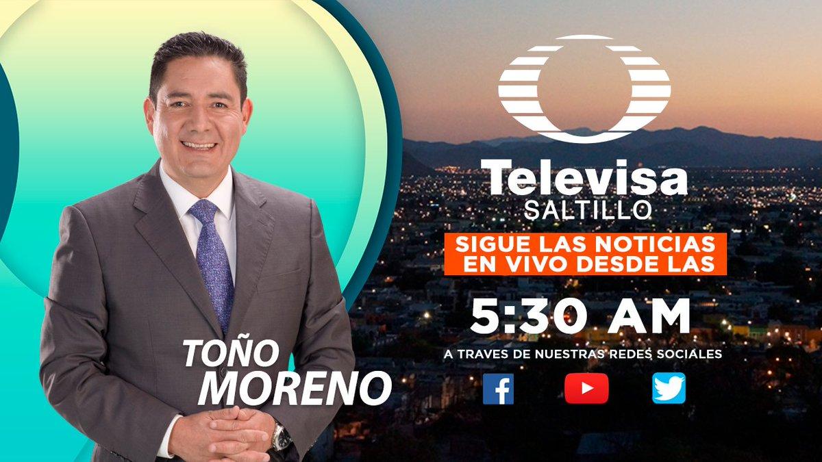 #FelizMiercoles #Saltillo #RamosArizpe #Parras #GeneralCepeda inicia bien informado desde las 5:30 AM en #LasNoticas con @antonio_noticiapic.twitter.com/vxOE5fVe68