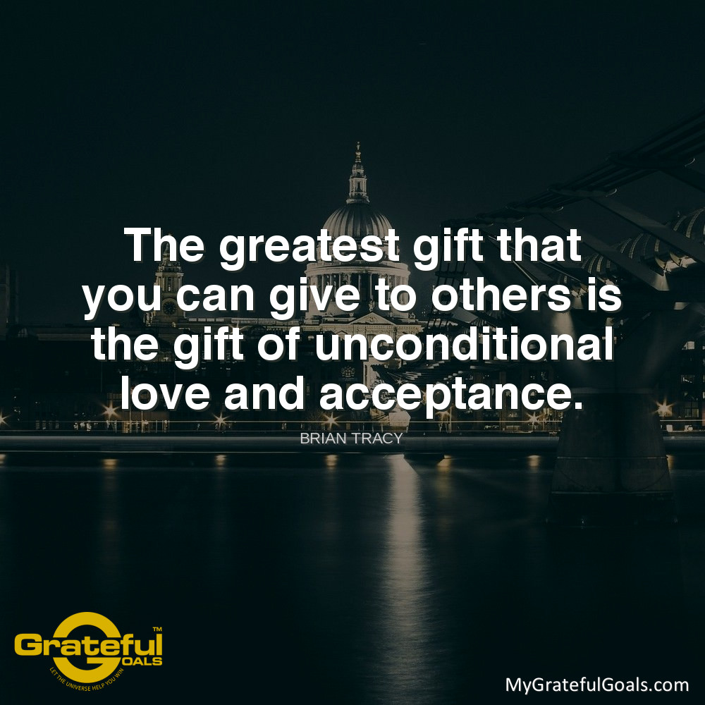 """The greatest gift that you can give to others is the gift of unconditional love and acceptance."" - Brian Tracy #WednesdayWisdom #MyGratefulGoals #GratefulGoals #PlannerAddict #GoalSetting @atlcelebritypic.twitter.com/vhkyNzwhYN"