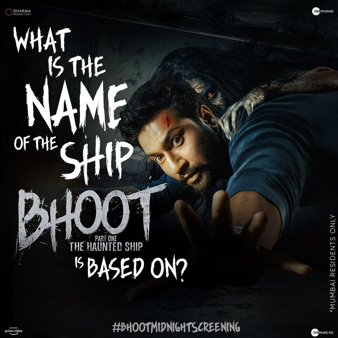 Can you name the vessel of evil? The answer lies in the #BhootTrailer.   Steps to win: 1. Follow @ZeeStudios_ 2. Use the correct hashtag and reply.  3. Play and win!