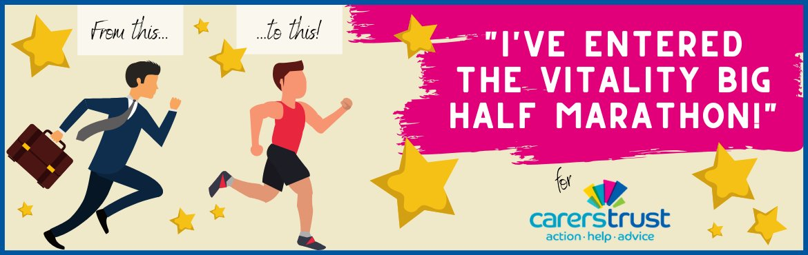 So proud that our Director, Neal, is taking on the @OfficialBigHalf  on Sunday 1st March to help us reach our goal of raising £10,000 for @CarersTrust  👍