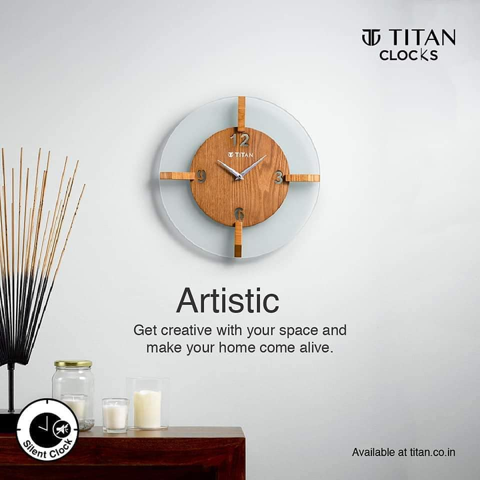 Get creative with your space with Titan Artistic Wall clocks. Add personality to your home.  Deepika sales titan showroom katora talab Raipur  #newlaunch #titanwatches #wallclock #classicdesigns #stylish #atristic #wallclock #interior #home #homedecorpic.twitter.com/FnlpwOalzU