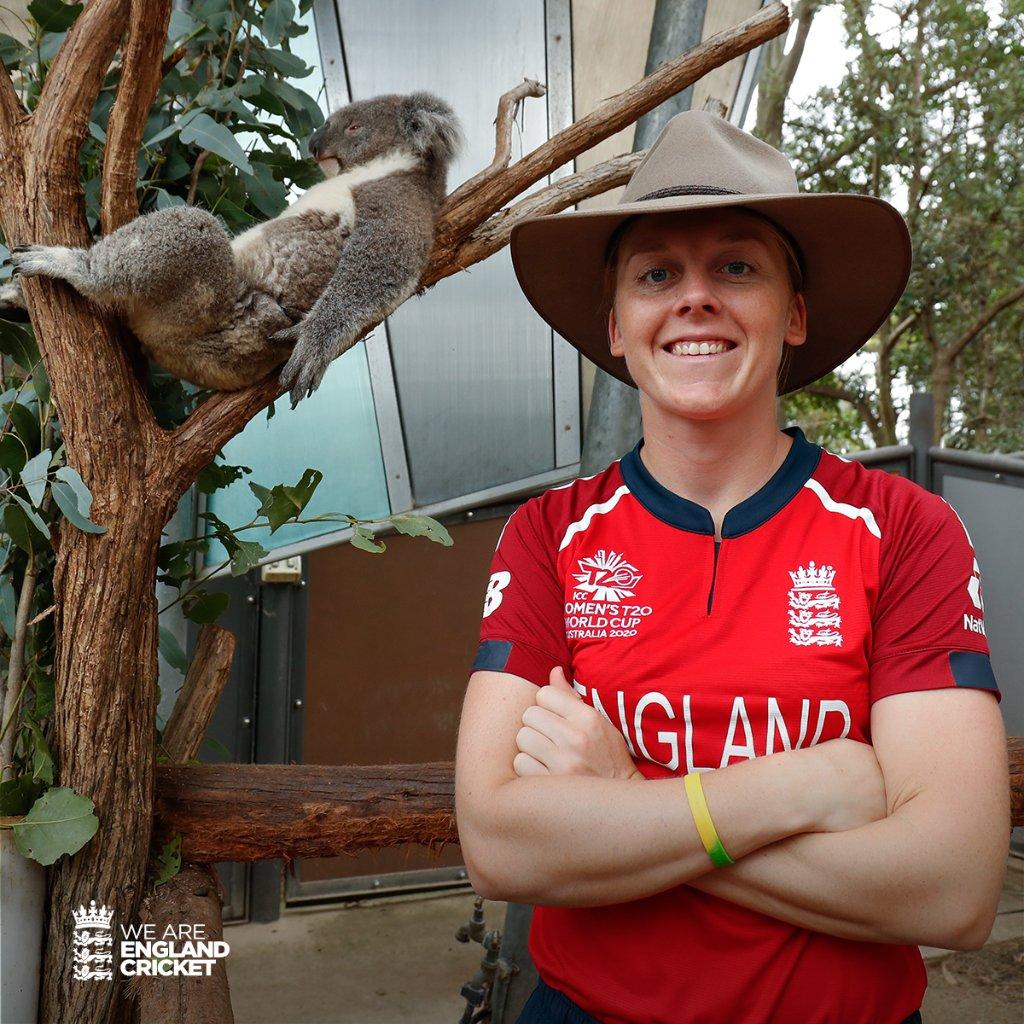 The captain @Heatherknight55 all set for the #T20WorldCup! 🐨  Can we become double world champions in Australia?