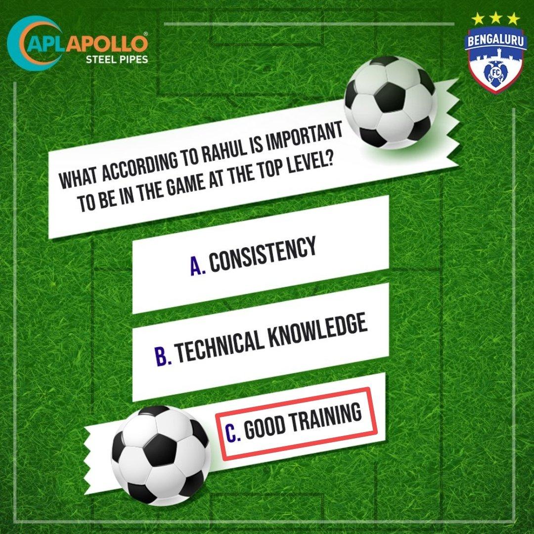 Answer :- C) Good Training   #ContestAlert #APLApollo #InnerStrength @APLApolloTubes   Tagged  @Sandeep55223259  @RahulSh47444881  @ShardaS03626409  @ShikhaBhadoria6  @priya19909678  @PritiNivoriya  @3Madhvi  @sanghvinikita5 @indu_19__  @abha_mishra19pic.twitter.com/gRfIwijUzL