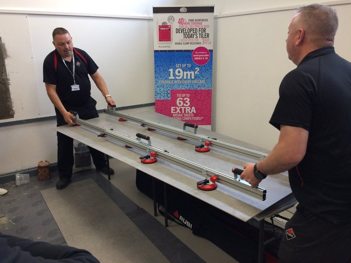 Our Large Format Tiling courses with @Rubi_UK_IRE and @CosentinoUK proved a great success in 2019. Our 2020 training dates are now live and you can book your place on our next course, Thursday 12th March, online, now.  https://buff.ly/2LoOihSpic.twitter.com/8CH6n2rTvU