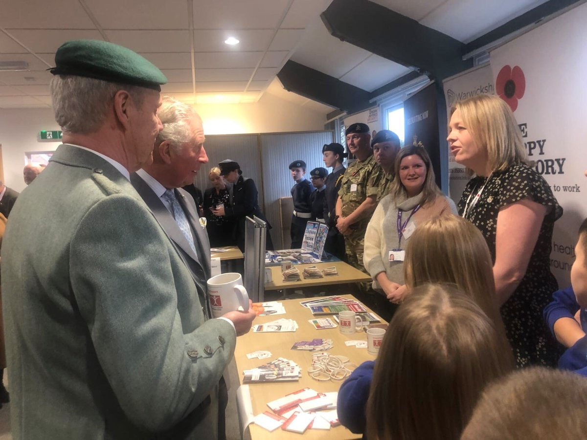 Fantastic to meet HRH Prince Charles @ClarenceHouse at the opening of the new Veterans Contact Point in #Nuneaton yesterday. Offering advice, guidance and support for ex-Service personnel, we are proud to work alongside @VeteransCPpic.twitter.com/Tv1ZVMPNt7