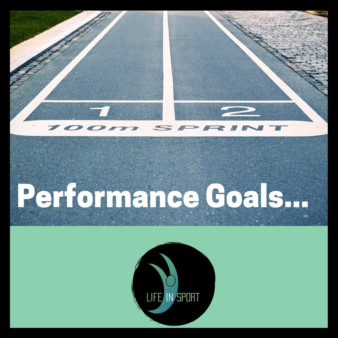 #Performance #goals emphasise improving personal performance or attaining a particular performance standard:  Setting these types of goals will include: -Race times or personal best times in swimming  -Distances or heights in athletics field events  #lifeinsport #goalsetting pic.twitter.com/dIWp65uaFS