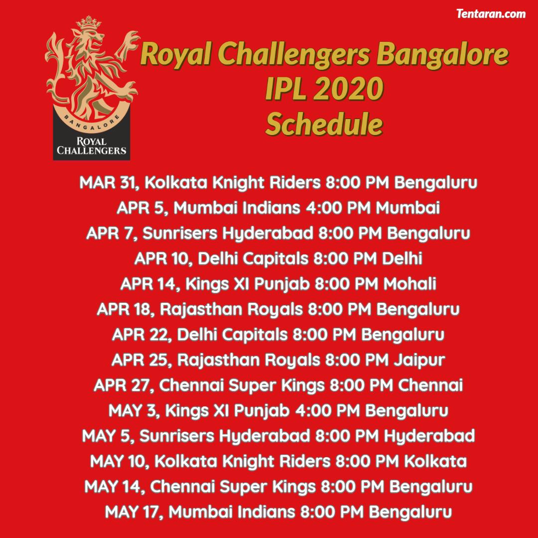 #RCB full schedule #IPL2020Follow @mytentaran for More updates#SteveSmith #ViratKohli #DavidWarner #RohitSharma#MitchellStarc #JaspritBumrah#PatCummins #MohammedShami #Kohli #Shami #Bumrah #Starc #Warner #INDvAUS #AUSvIND #Cricket #CricketMeriJaan #CricketLover