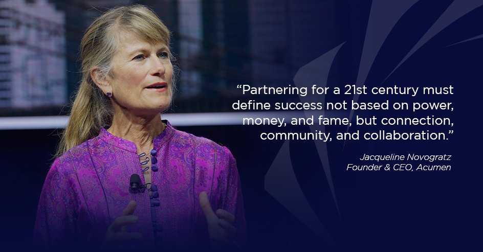 .@acumen Founder @jnovogratz on values that advance partnerships and unity #MLKDay  #Concordia20<br>http://pic.twitter.com/AnNbjOPXNV