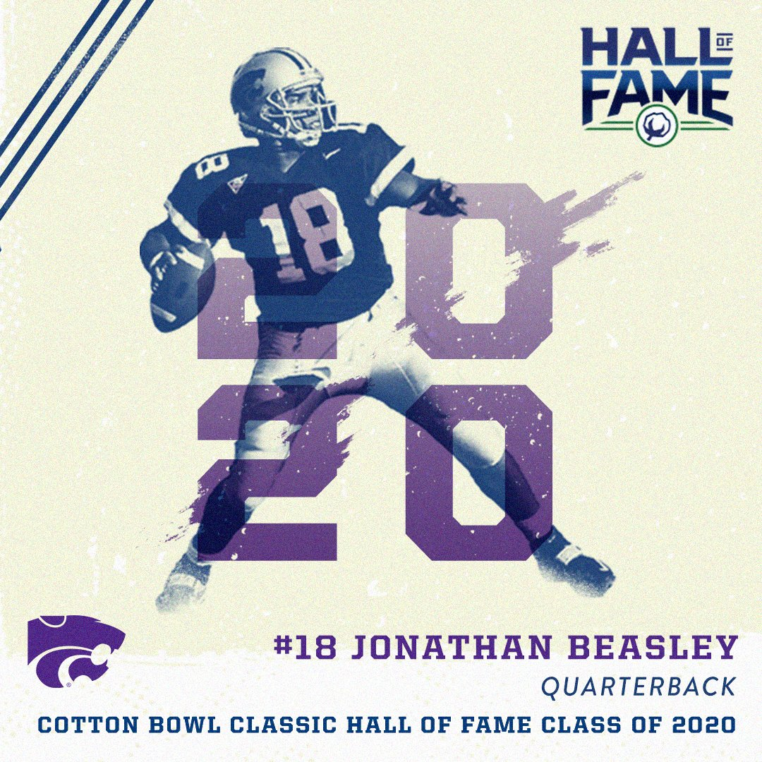 JONATHAN BEASLEY,  Quarterback - Kansas State  Cotton Bowl Classic  : http://bit.ly/beasleyHOFpic.twitter.com/n77e8uvsTC
