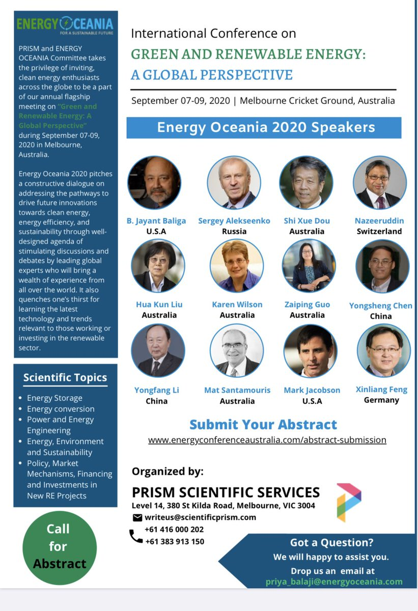 International conference on Green and Renewable Energy to be held at Melbourne Cricket Ground, Melbourne, Australia. #Energyoceania2020 #energy #renewables #cleanenergy #solar #solarenergy #melbourne #australia  #internationalconference #renewableenergypic.twitter.com/0aHgiVRicv