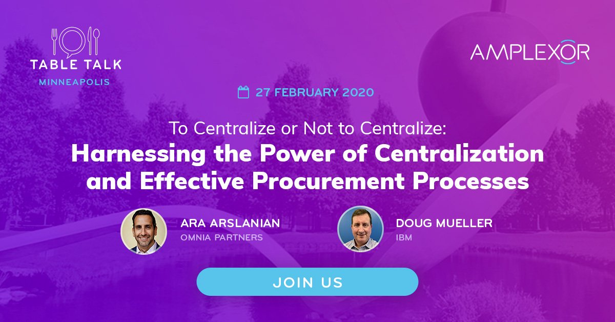 Decentralization in #procurement can pose several risks: lack of efficiency, fragmented buying processes, overall spend, and #VendorManagement from a global level. Learn how consolidation is the key  Register today #L10n #MinneapolisEvents https://hubs.ly/H0msPVF0pic.twitter.com/Ls8QjotDcM
