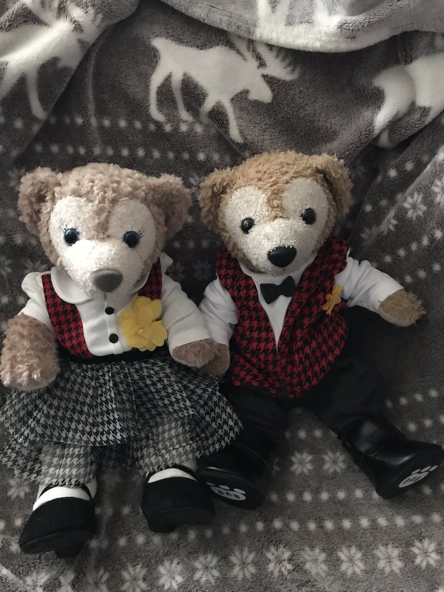 Duffy and Shellie May are ready for St David's Day. #stdavidsday #wales #cymru  #duffythedisneybear #shelliemaythedisneybear