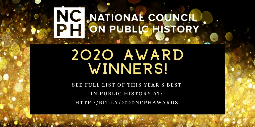 Congratulation to all of the winners, especially Lisa Blee and @JeaniOBrien! Their book, MONUMENTAL MOBILITY, received an honorable mention in the @NCPH Book Award! @uncpressblog