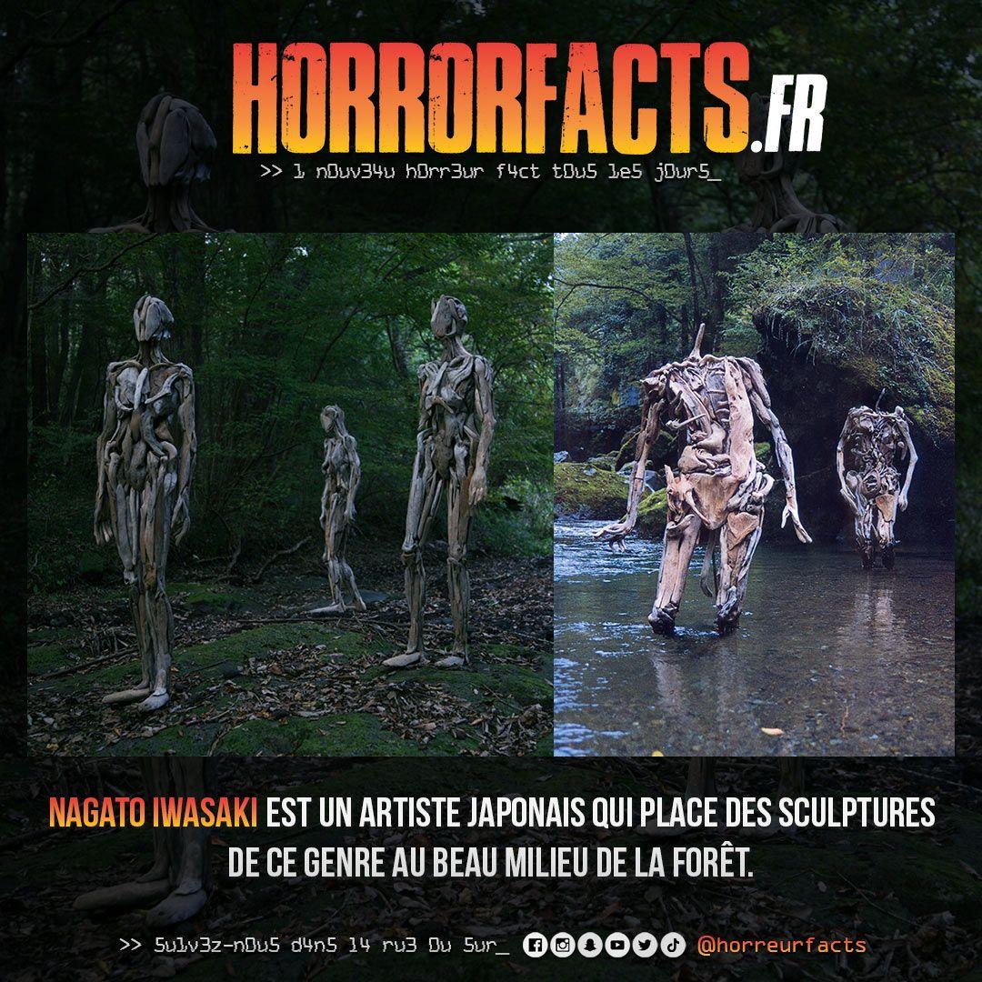 Vous croisez ça au beau milieu de la forêt, vous réagissez comment ? #sculpture #statue #forêt #foret #flippant #lesaviezvous #nagatoiwasaki #art #artmoderne #horreur #horreurs #horreurfact #horreurfacts #horrorfact #horrorfacts #filmdhorreur #histoiredhorreur #horrorartpic.twitter.com/pqQe1reKd8