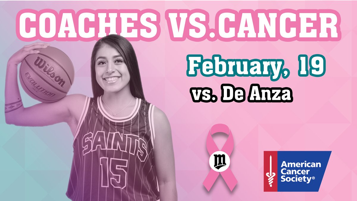 It's a special night as the Saints take on rival @DeAnzaAthletics. The sophomores will be honored before the game and there will be a halftime talk from @AmericanCancer. Tip-off is set for 7:15 P.M. @SportsSiliconV @CCCAASports @CoachesvsCancer #hoops #womensbasketball pic.twitter.com/KOVoM7GHH5