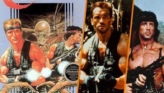 Quando l'ispirazione per la copertina era dietro l'angolo...  #Contra #SuperContra #Retrogaming #ArnoldSchwarzenegger #SylvesterStallone #Rambo #Commandopic.twitter.com/QydAkMj11r
