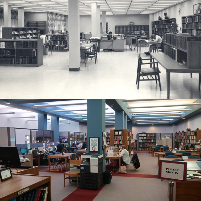It's #TransformationTuesday. Look how our presidential research library has changed since the 1960s in these photos.   #rbhayespres #PresidentialLibrary