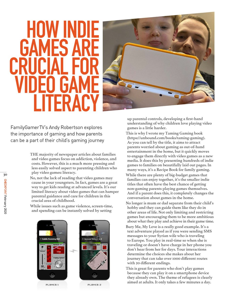 Another great article from @GeekDadGamer on the importance of gaming with family - some of the best #indiegames that can be enjoyed by all. Check out @FamilyGamerTV for more information on gaming for kids. Google - https://t.co/t687eSiBE8 Apple - https://t.co/5dYqlyFZcI