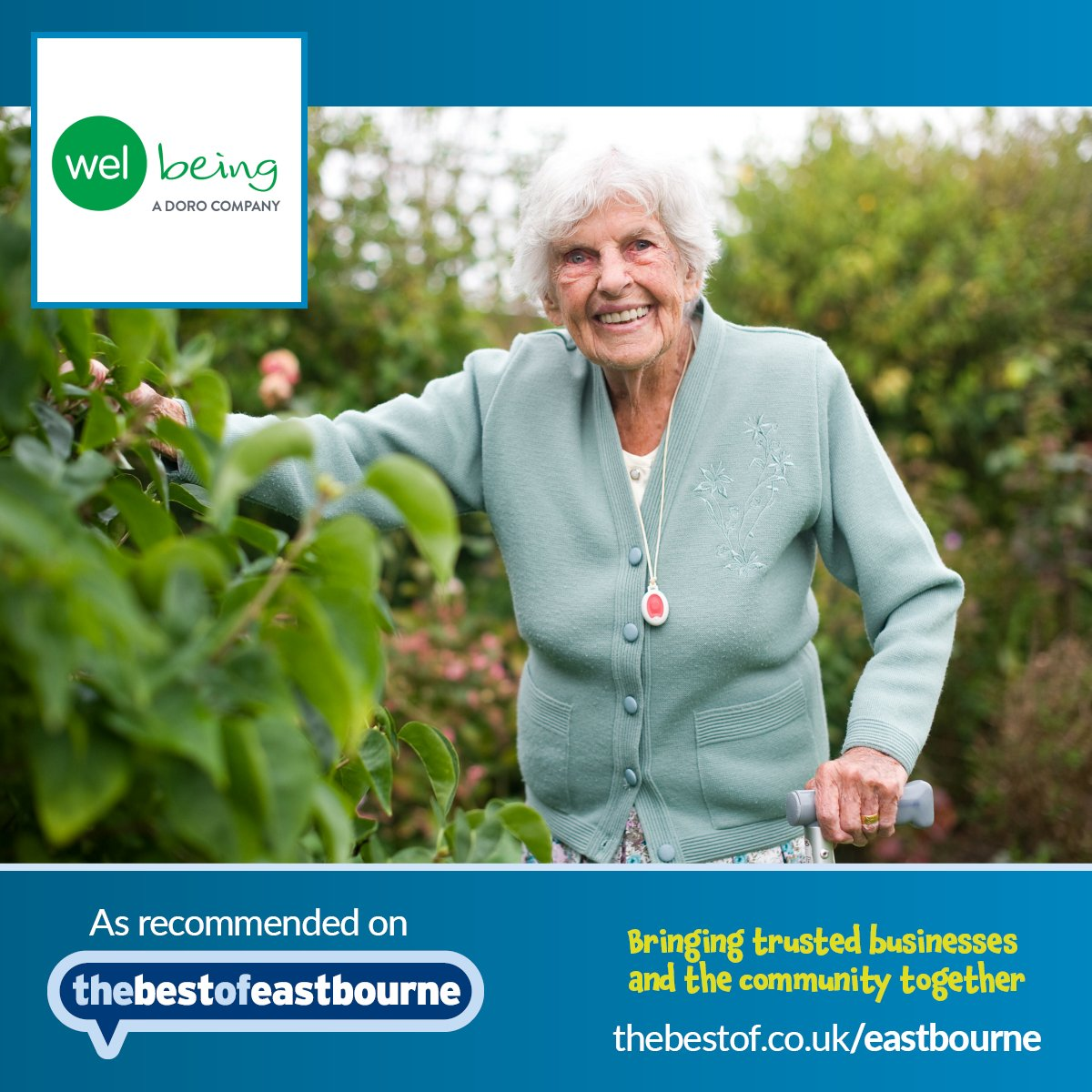 #MeetTheMember  - Welbeing helps all members of the community, particularly those who are elderly and vulnerable, to live and work in a secure environment with their #TeleCare  and #TeleHealth  solutions.  Find their details on #BestOfEastbourne   http://j.mp/1OBAsVp