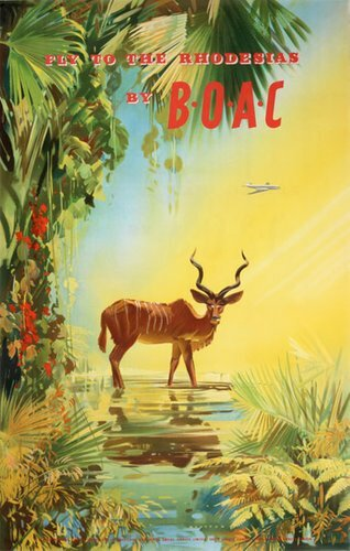 New UK #vintageposter Fly to Rhodesia by BOAC  #posterteam More info: http://bit.ly/2Hz0RnEpic.twitter.com/OA0JaQipKE