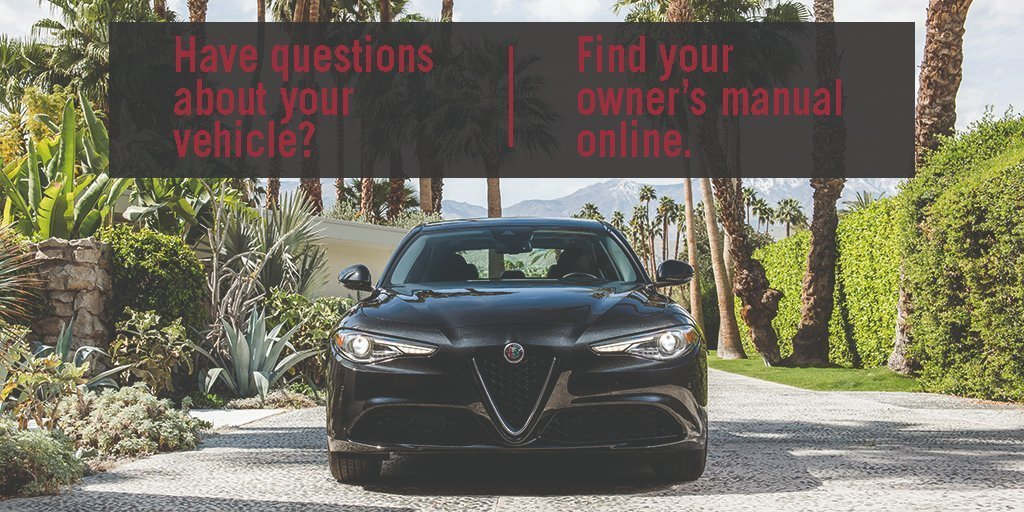 Want to learn more about your vehicle? You can find your  @alfa_romeo owner's manual here: https://t.co/LMf3ijFuDj https://t.co/G47xBMrqss
