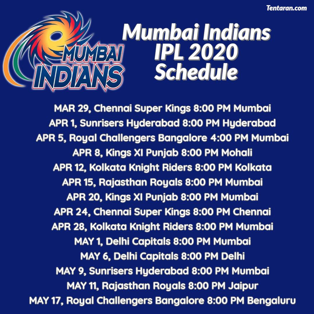 #MI Full Schedule #IPL2020Follow @mytentaran for More updates#SteveSmith #ViratKohli #DavidWarner #RohitSharma#MitchellStarc #JaspritBumrah#PatCummins #MohammedShami #Kohli #Shami #Bumrah #Starc #Warner #INDvAUS #AUSvIND #Cricket #CricketMeriJaan #CricketLover