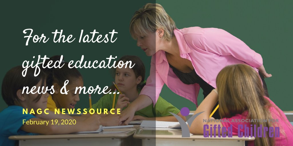Changes in school start times, gifted programs in an Oklahoma PS, Missouri AP scores and participation are up,...this news and more in NAGC's NewsSource  <a target='_blank' href='https://t.co/IGWoyETYdu'>https://t.co/IGWoyETYdu</a>  <a target='_blank' href='http://search.twitter.com/search?q=gtchat'><a target='_blank' href='https://twitter.com/hashtag/gtchat?src=hash'>#gtchat</a></a> <a target='_blank' href='http://search.twitter.com/search?q=GiftedMinds'><a target='_blank' href='https://twitter.com/hashtag/GiftedMinds?src=hash'>#GiftedMinds</a></a> <a target='_blank' href='https://t.co/yB11I0DIA7'>https://t.co/yB11I0DIA7</a>