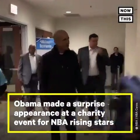 Obama made a surprise visit to this charity event for NBA rising stars
