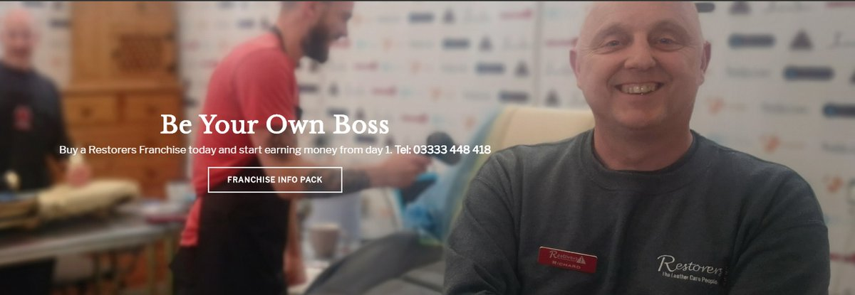#bizhour  Be your own boss. #Harrogate #franchise Is available. It's got five years of trading history and a full customer database. For more information contact Richard on 03333 448 418  #NorthYorkshire @leatherrepairuk