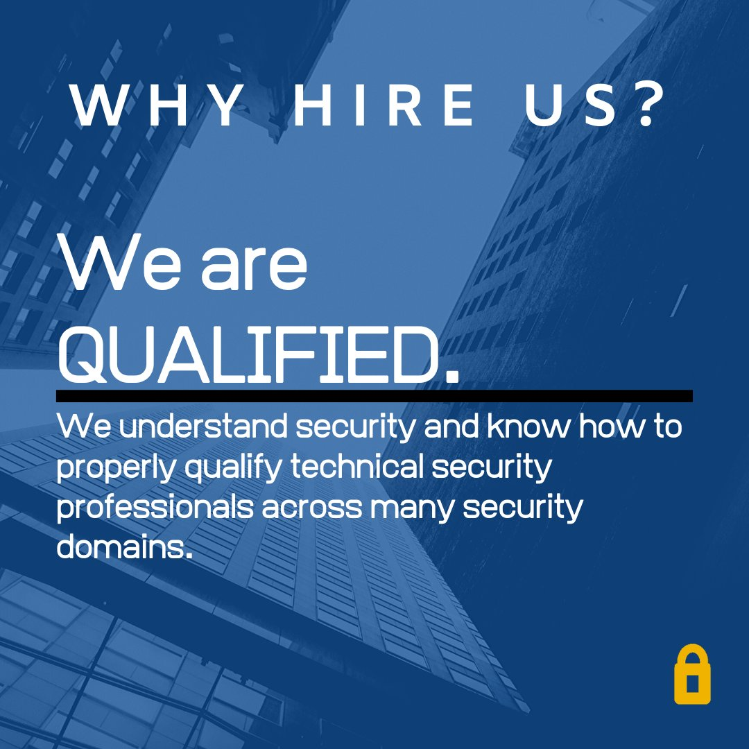Qualified experts are hard to find in the cybersecurity world. Fortify Experts cuts through the noise and knows exactly what to look for in candidates.   #QualityWork #Qualified #HoustonCyberSecurity #CyberSecurity #HireHoustonpic.twitter.com/A5iaPCHX6c