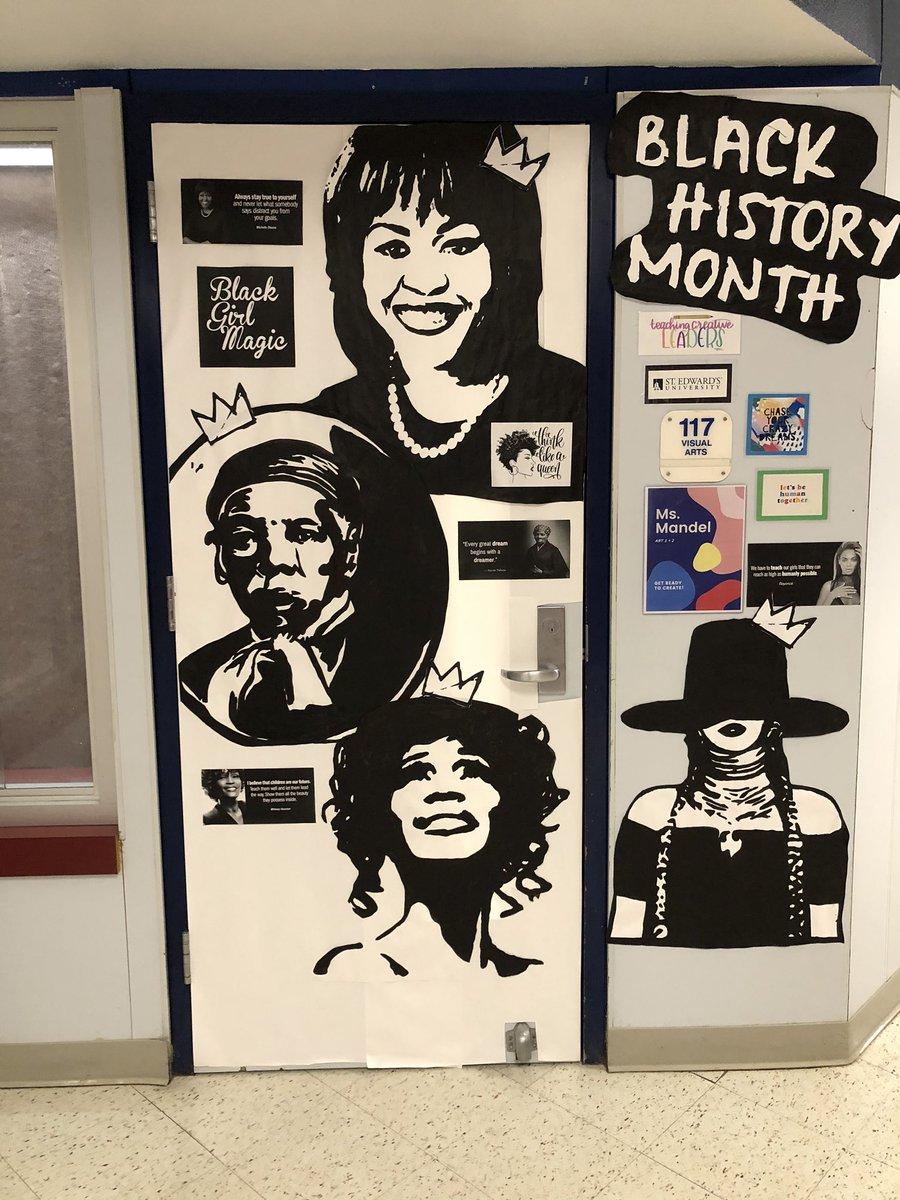 More #hallway #art for @GGamechangers to admire @DISD_Libraries #BlackHistoryMonth @MRamirezDISD
