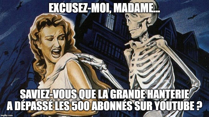 Rejoignez-nous, spookies ! https://www.youtube.com/channel/UCCRNTp6h_JAHLMDVOsh8Ddw?view_as=subscriber…  #YouTube #Film #Cinéma #Filmfantastique #Filmdhorreur #Vlog #Horreur #épouvante #Livredhorreur #Livrefantastique #Romanfantastique #Cinémadhorreur #Filmdegenrepic.twitter.com/8tvukWnkz8