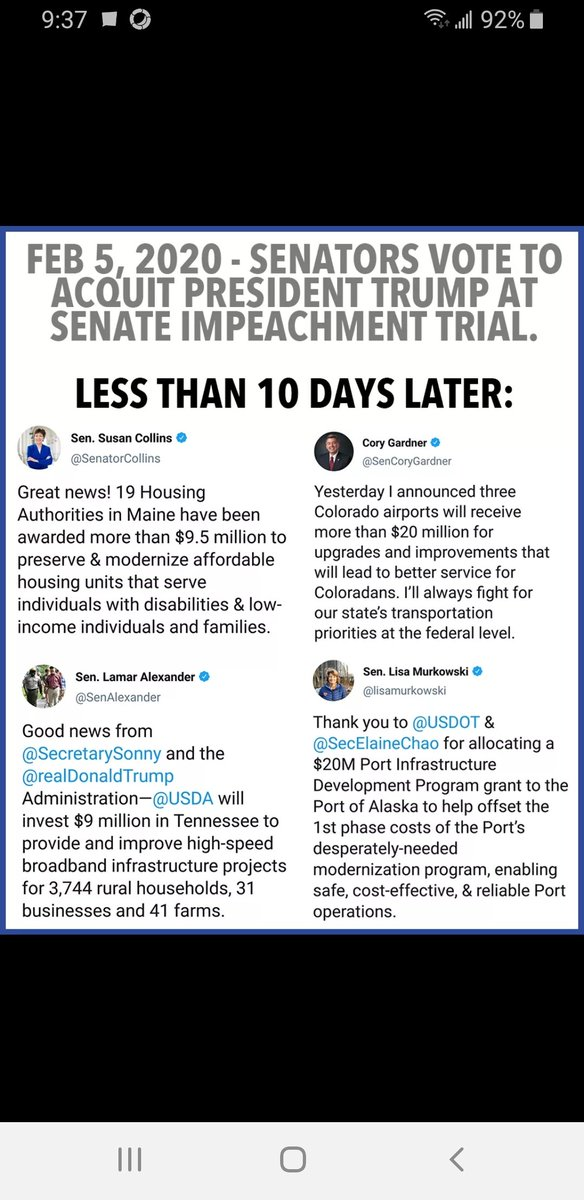 Amazing how this worked out... #Trumpimpeachmenttrial #GOPBetrayedAmerica